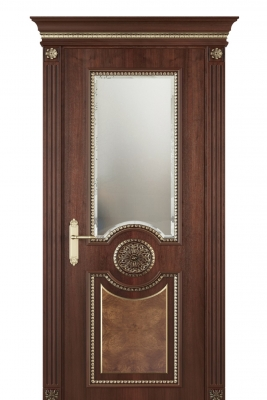 Image Alessandria Vetro Interior Door Stained Oak 1