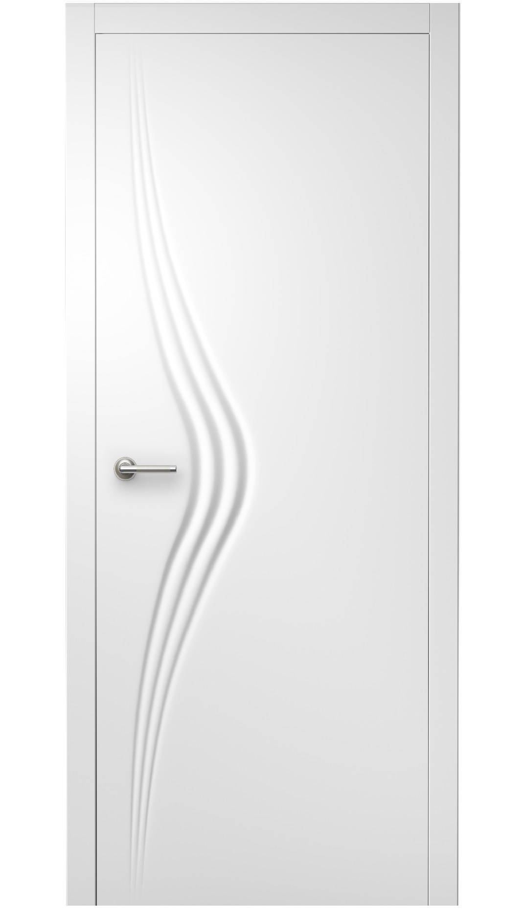 Image Wave Interior Door Royal White 0