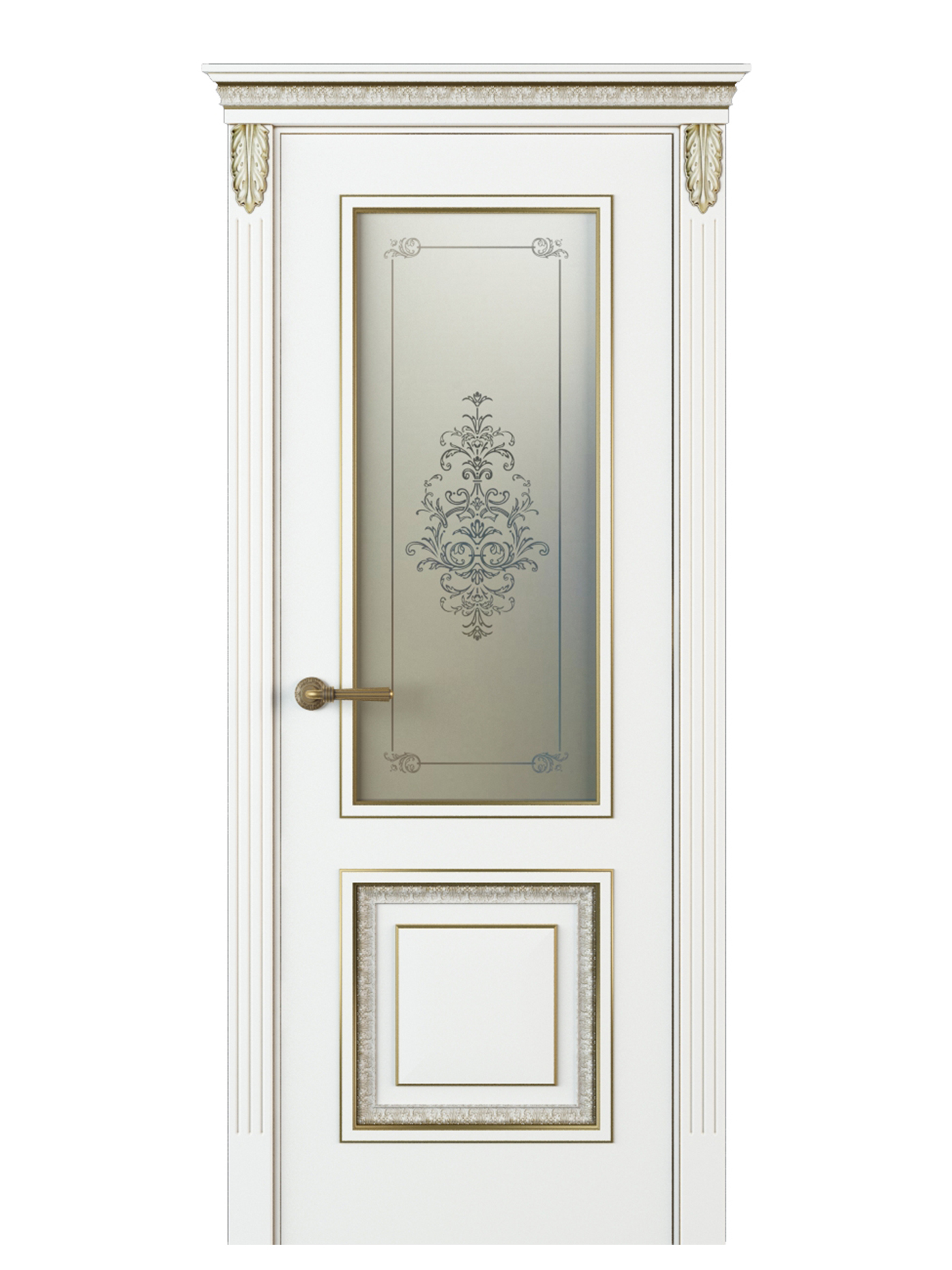 Image Molinella Vetro Interior Door Italian Enamel White 0