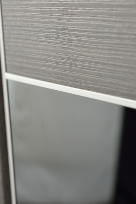 Image Titanium Interior Door Gray Chestnut / Black Glass 2