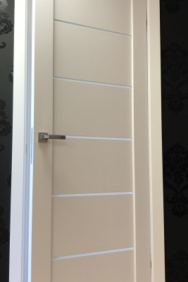 Image Tia Interior Door Bianco Noble/Frosted Glass 3