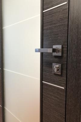 Image Versa Vetro Interior Door Black Apricot 2