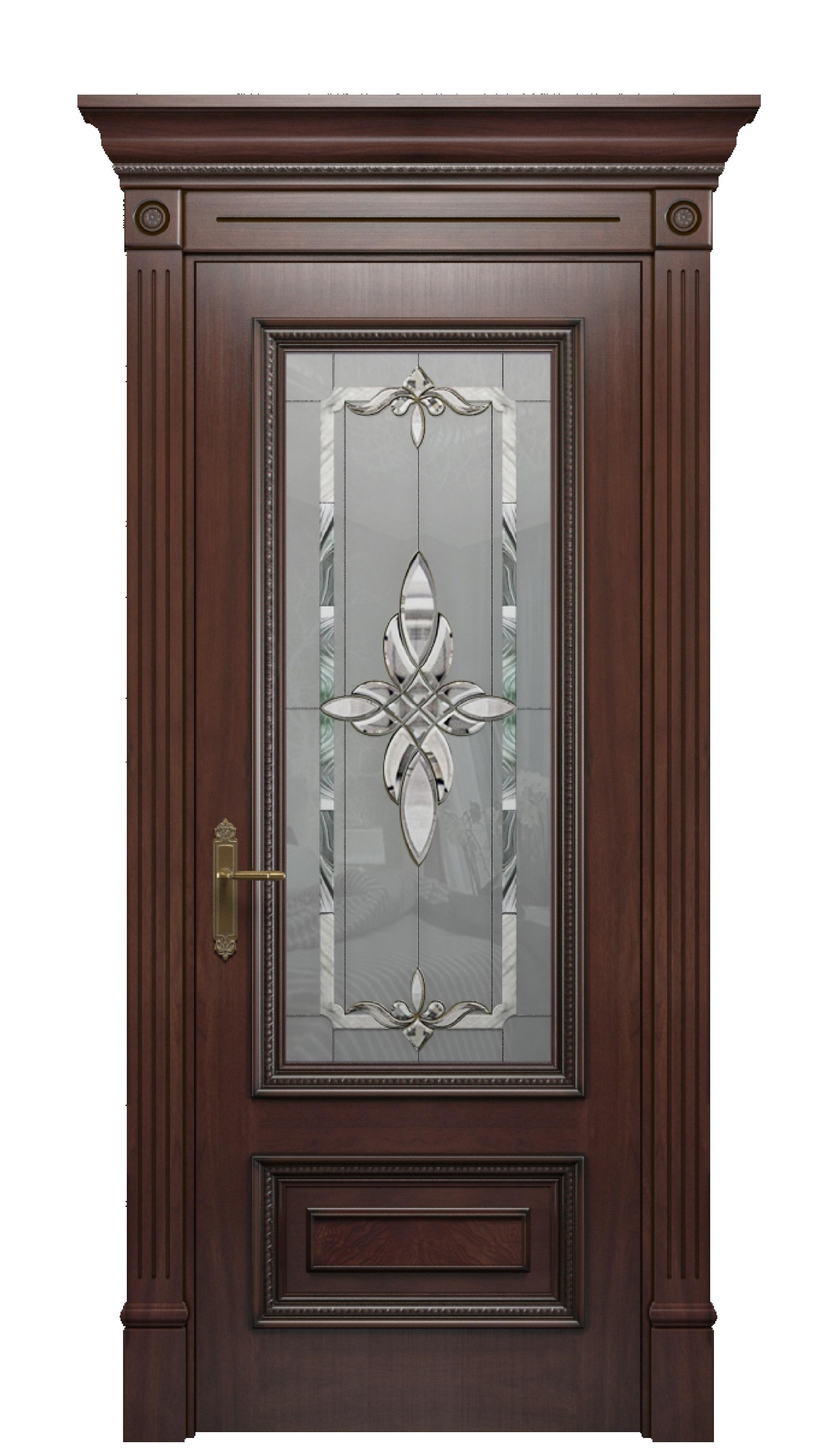 Image Imperia Vetro Interior Door Stained Oak 0
