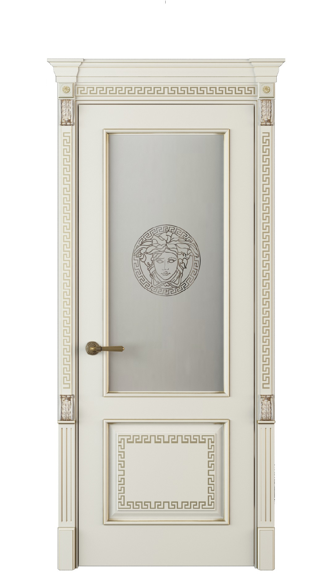 Image Medusa Vetro Interior Door Royal White Oak 0