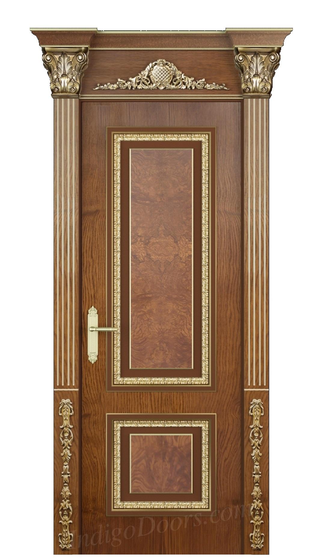 Image Verona Interior Door Stained Oak 0