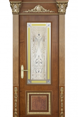 Image Verona Vetro Interior Door Stained Oak 1