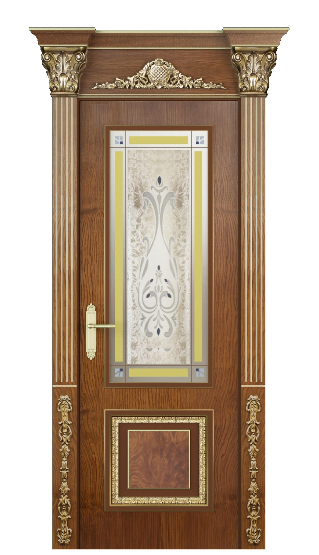 Image Verona Vetro Interior Door Stained Oak 0