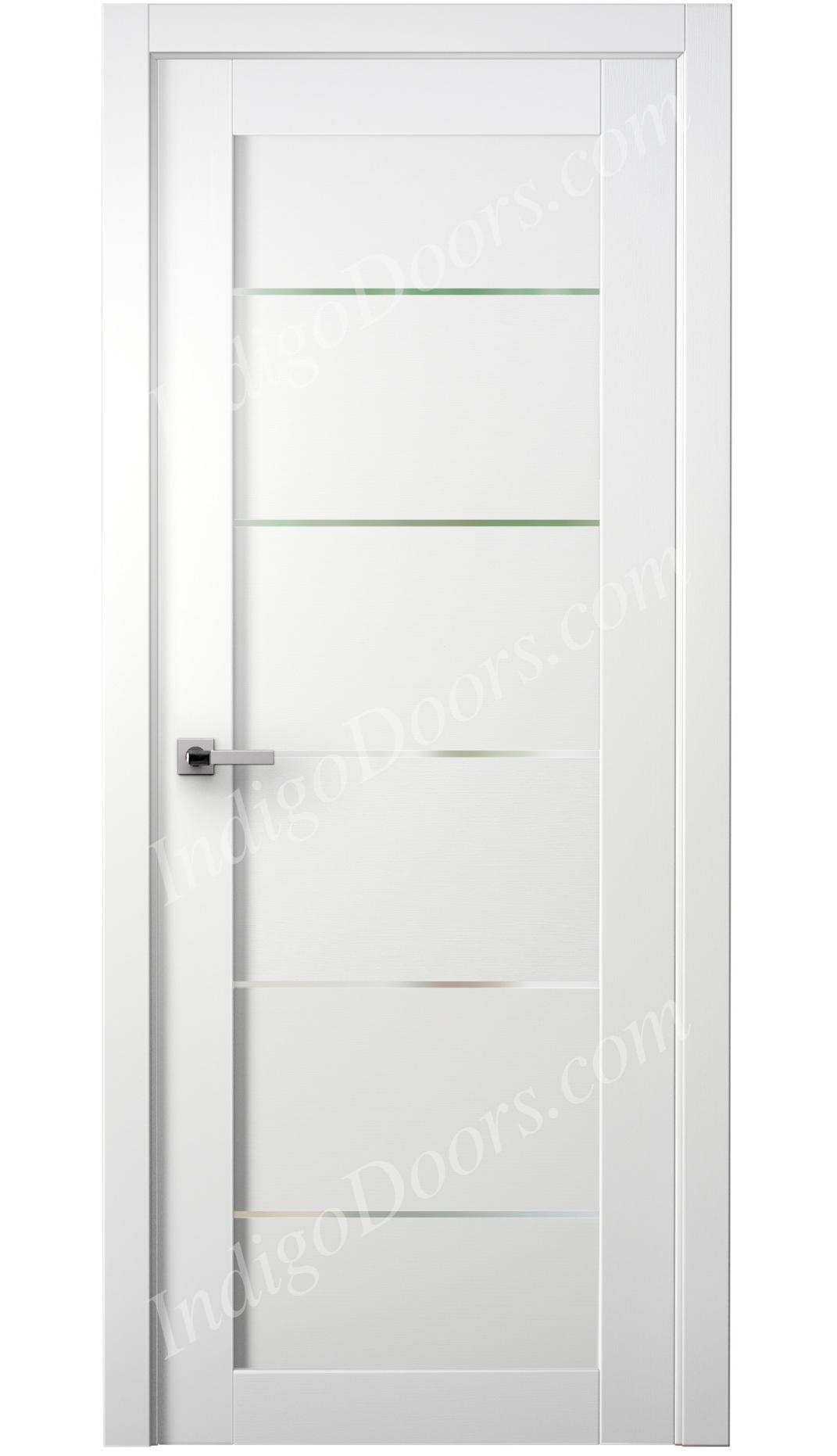 Image Tia Interior Door Bianco Noble/Frosted Glass 0