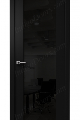 Image Vento Interior Door Diablo Black / Black Glass 1