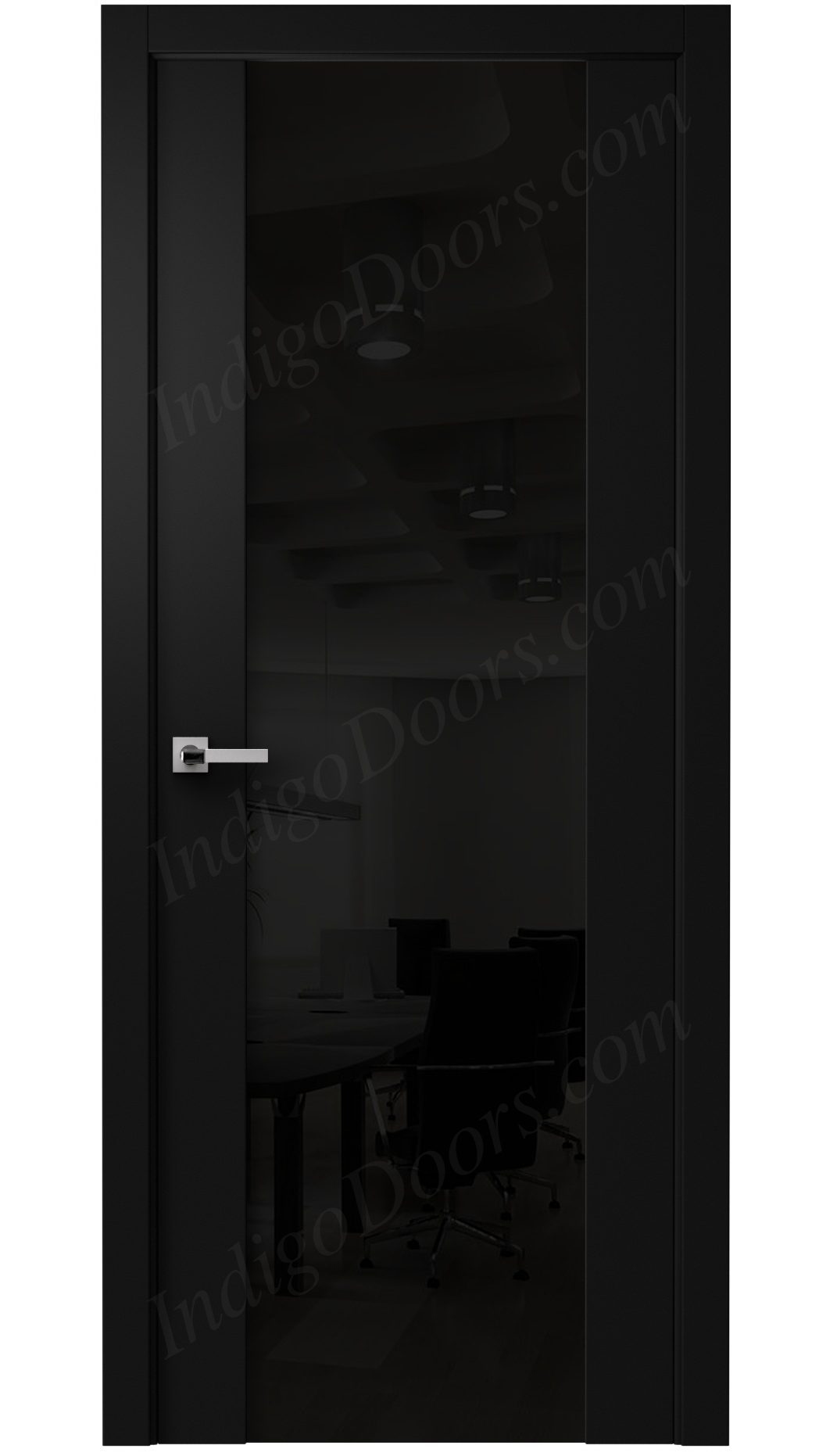 Image Vento Interior Door Diablo Black / Black Glass 0