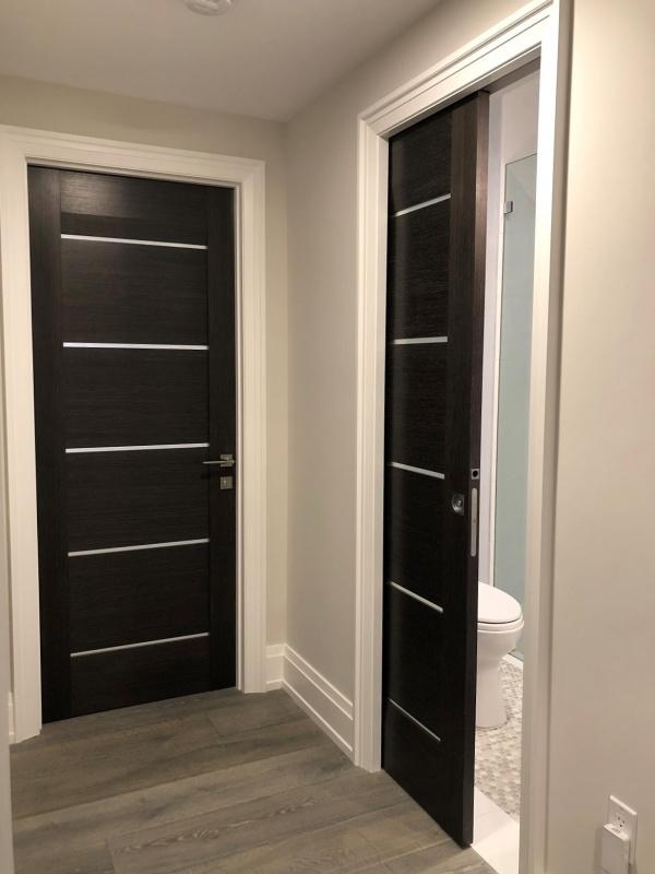 Dark or black doors