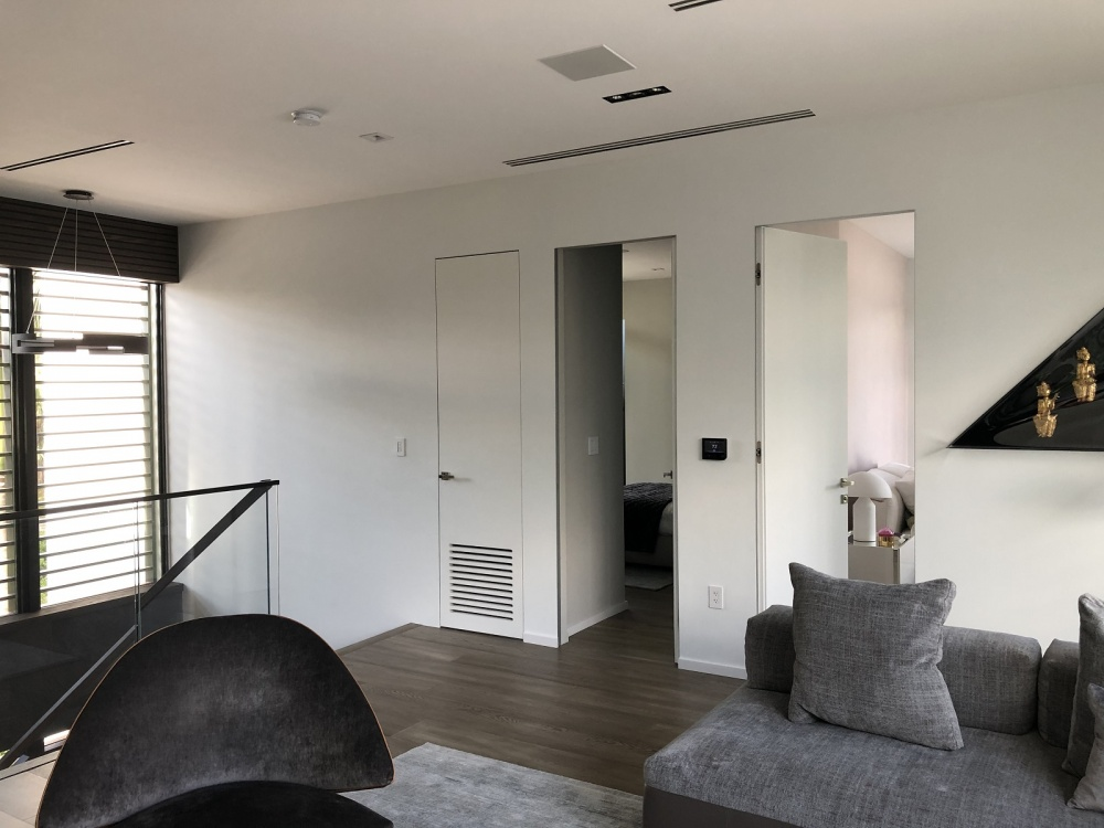 Efficiency and functionality of white modern doors